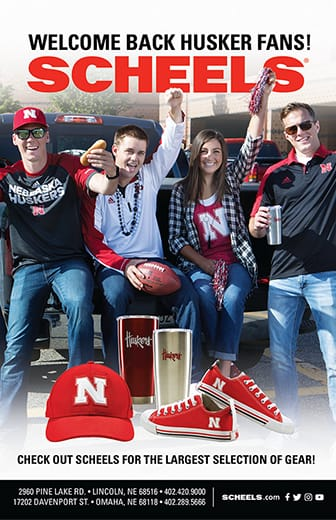 Welcome back Husker fans! Check out Scheels for the largest selection of gear!