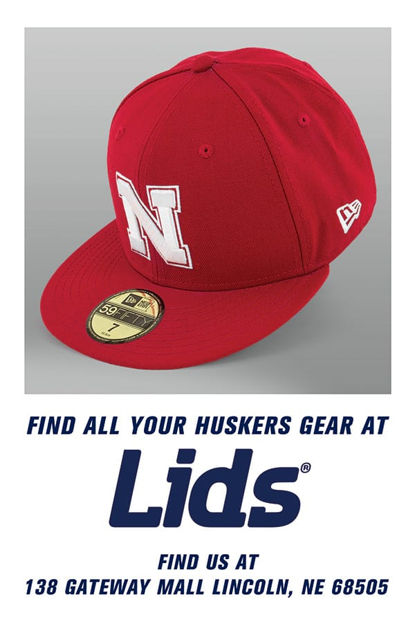 Find all your Huskers gear at Lids. Find us at 138 Gateway Mall, Lincoln, Nebraska 68505.