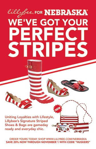 We've got your perfect stripes. Uniting Loyalties with Lifestyle, Lillybee's Signature Striped Shoes & Bags are gameday ready and everyday chic.