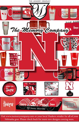 Visit www.memorycompany.com or your local Huskers retailer for all of your Nebraska gear. Please check back for more new designs coming soon.